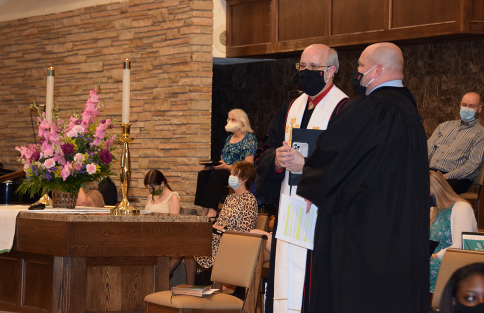 It was exciting. Especially welcoming our new Pastor!