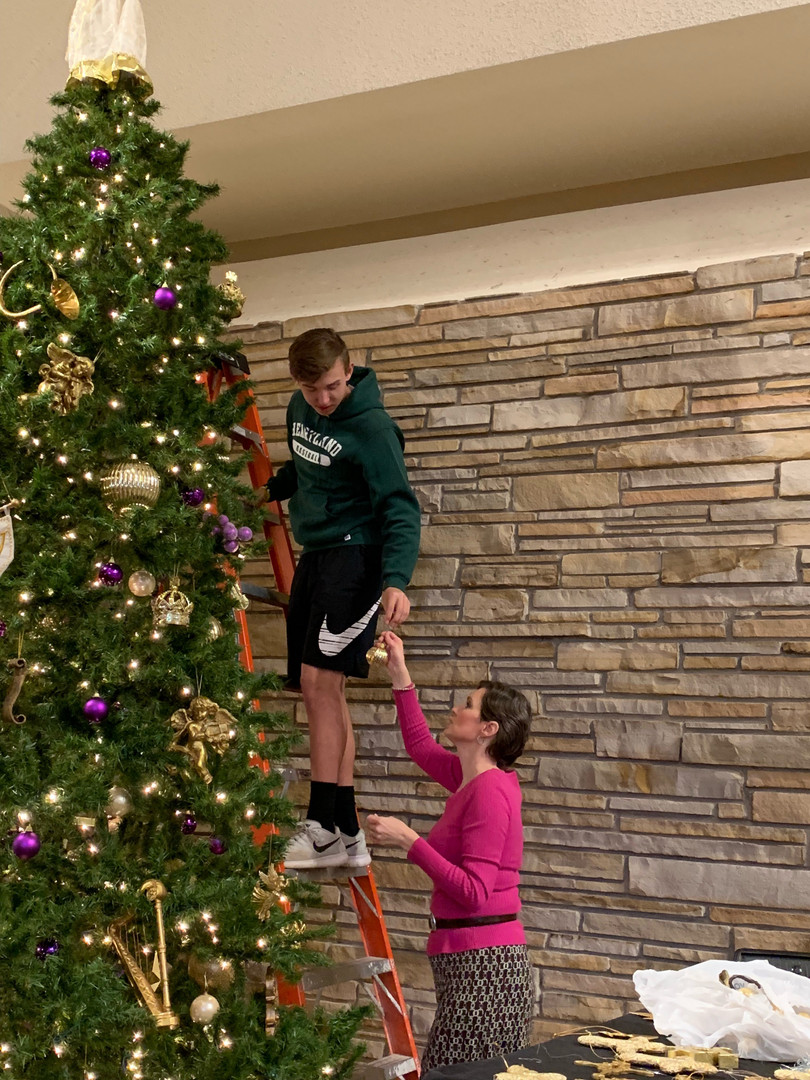 It was great to have tall people helping!