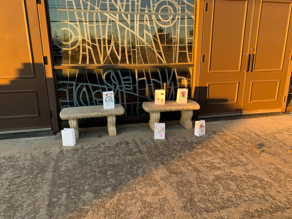 The prayers were collected and written on bags
