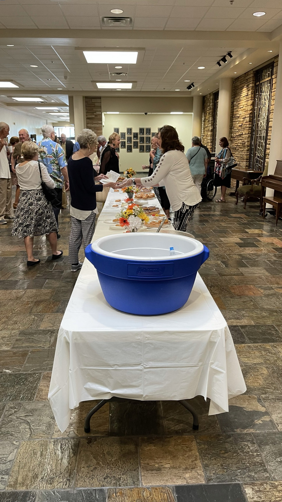Last Sunday we held a reception to say our last goodbyes to Amanda and her family.