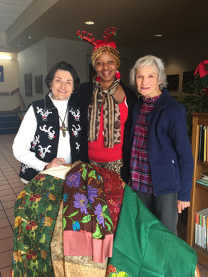 The ladies from Holy Hands delivered some Christmas gifts.
