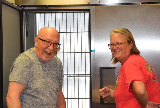 And this week - they welcomed a new freezer!