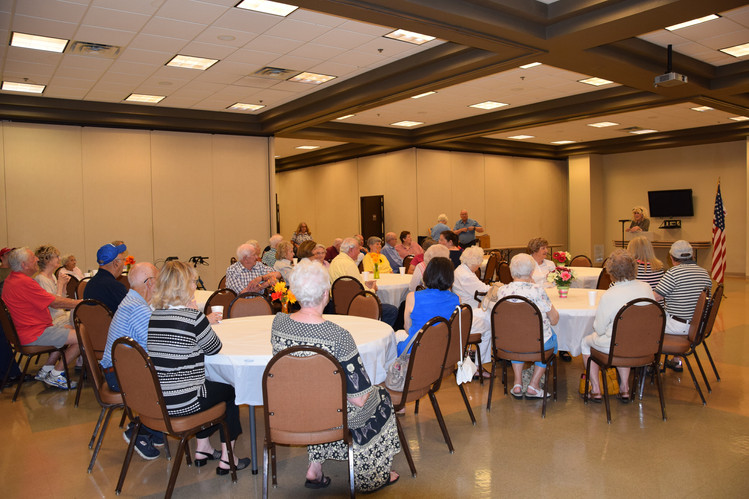 A few days later...packed again for Retired Fellowship Ice Cream Social!