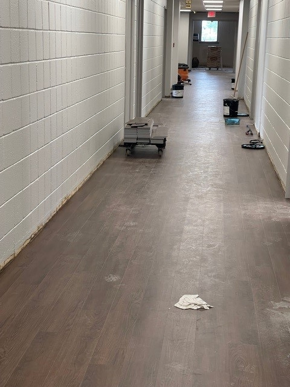 and a new floor down the hall too!
