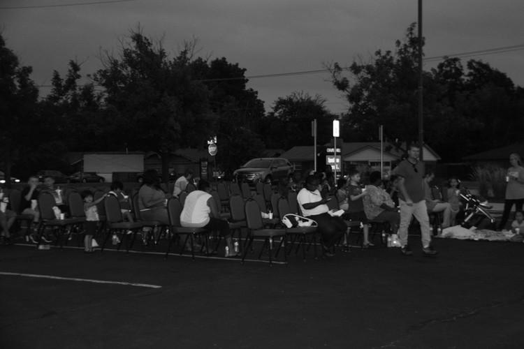 We love outside movie nights.