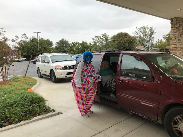 This clown handed out treats...