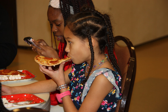 Pizza ... the official food of church.