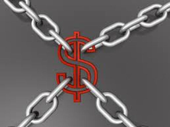 chains hanging on USD representing Financial Regulators