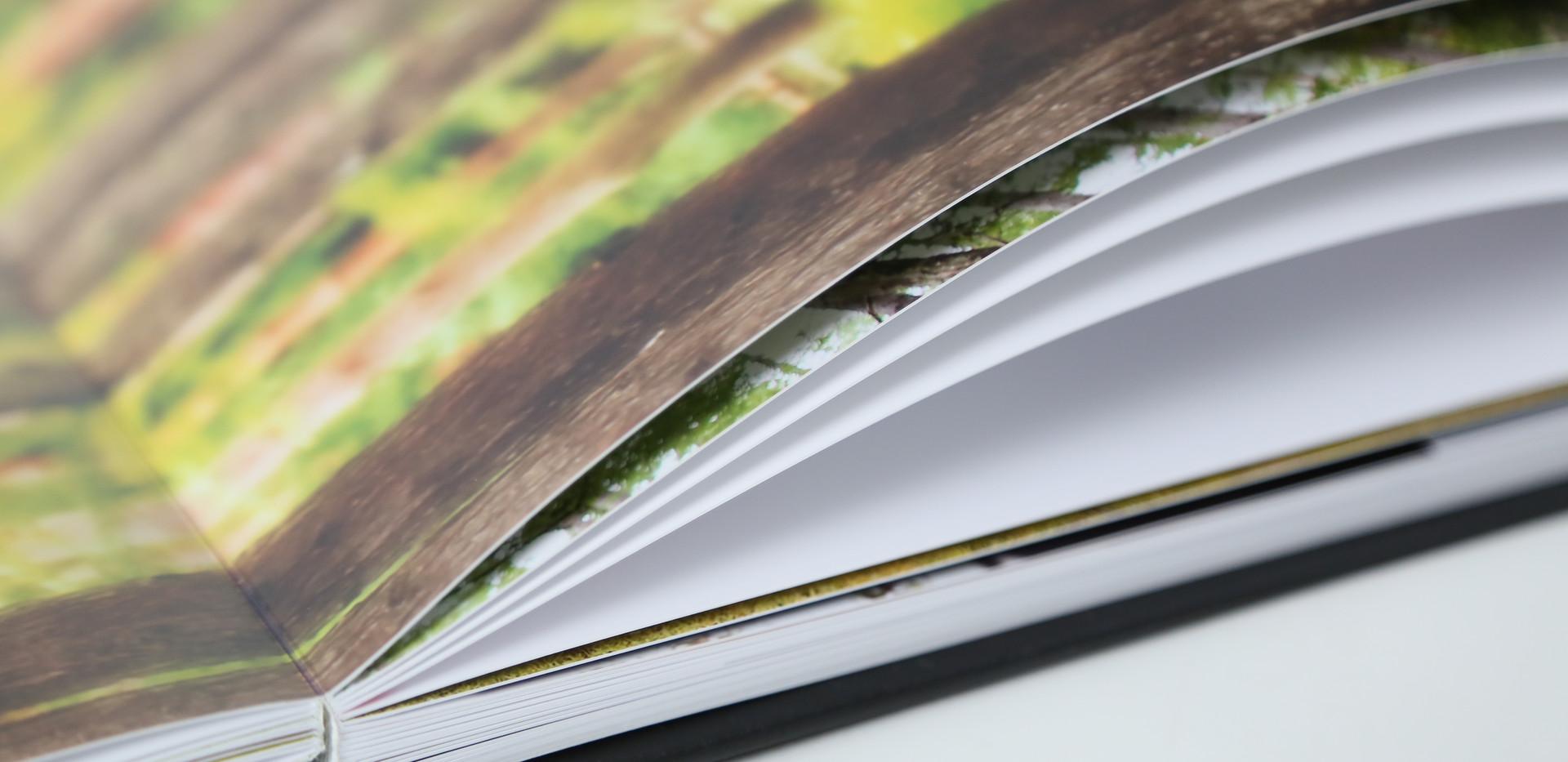 最大100ページまで可能な銀塩プリントレイフラット製本