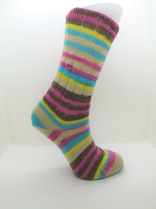 Striped Ice Cream Handcranked Socks