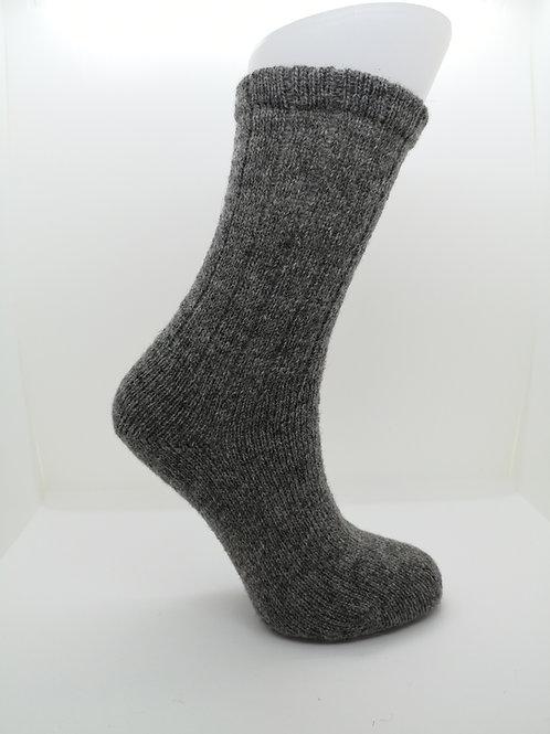 100% Pure Shetland Wool Socks - Natural Sholmit Grey