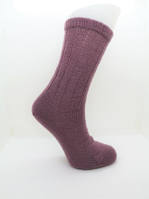 100% Pure Shetland Wool Socks - Cyclamen Purple