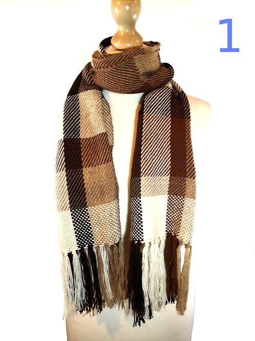 Handwoven Brown Scarves