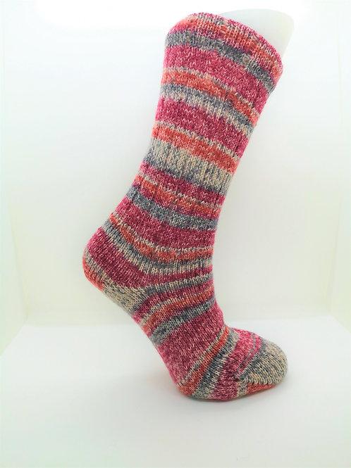 Mottled Pink Handcranked Socks