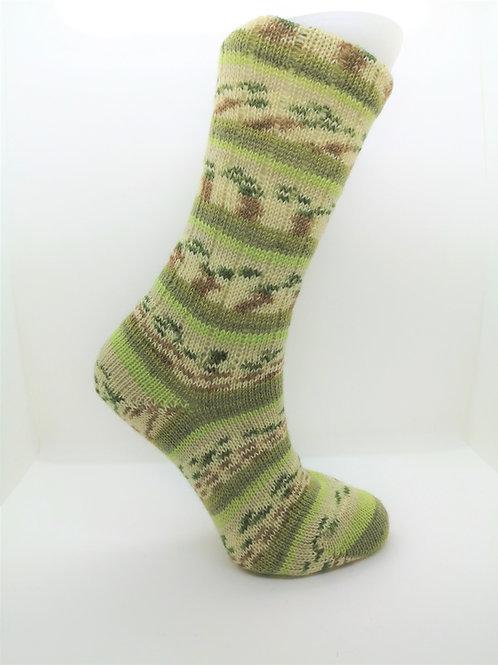 Camo Green Handcranked Socks