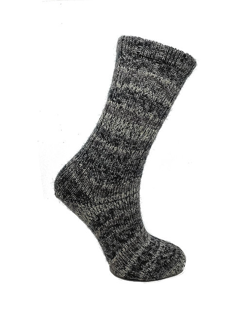 Mottled Grey Handcranked Socks
