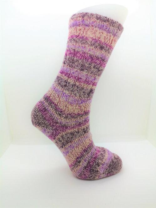 Mottled Purple Handcranked Socks