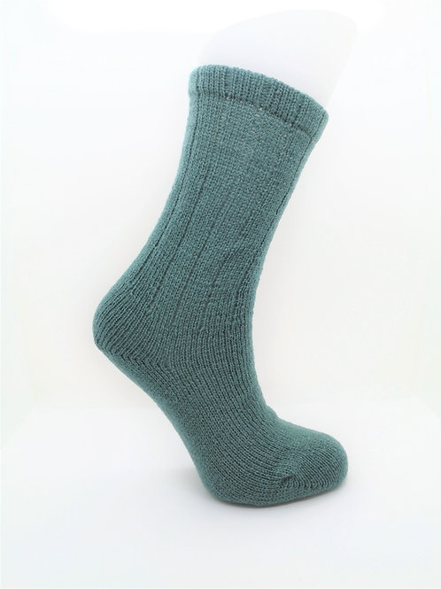 100% Pure Shetland Wool Socks - Eucalyptus Green
