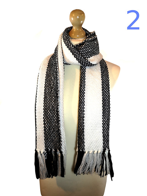 Handwoven Black Scarves