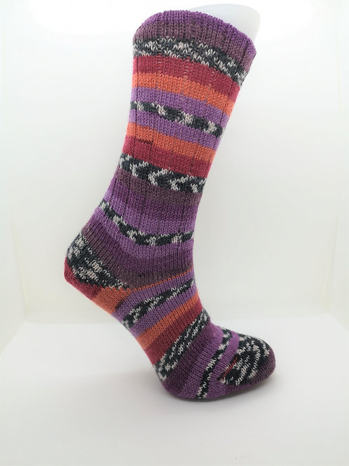 Fairisle Sunset Handcranked Socks