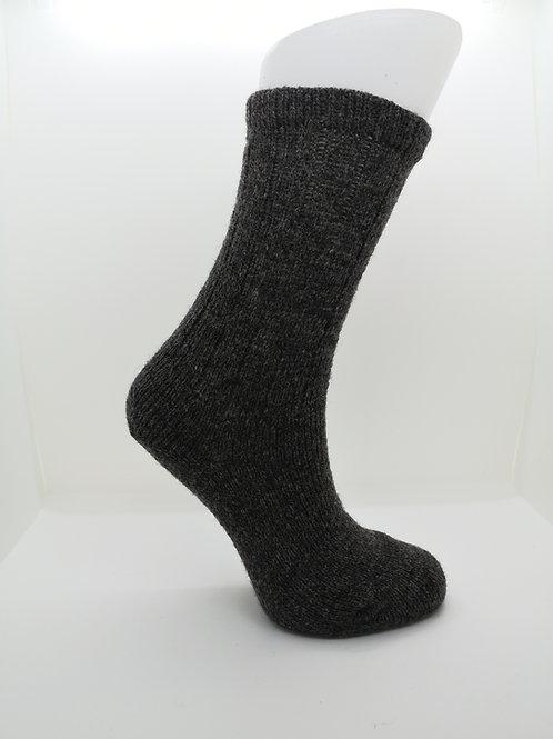 100% Pure Shetland Wool Socks - Natural Shaela Grey