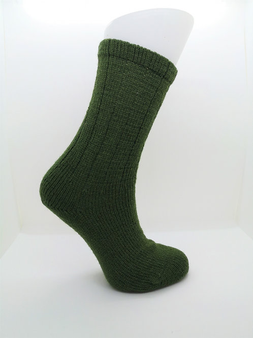 100% Pure Shetland Wool Socks - Ivy Green