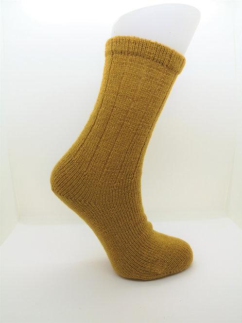 100% Pure Shetland Wool Socks - Mustard Yellow