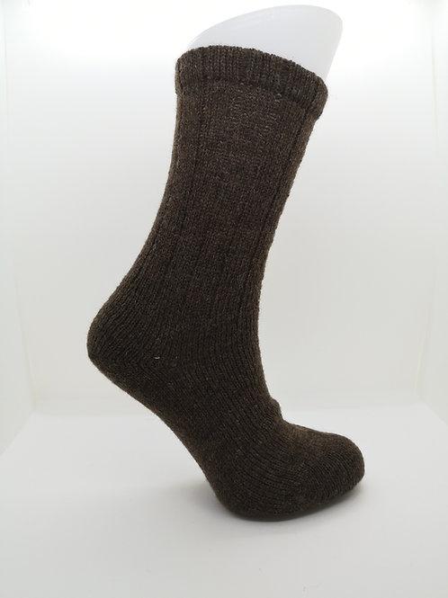 100% Pure Shetland Wool Socks - Natural Moorit Brown