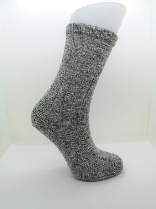 100% Pure Shetland Wool Socks - Granite Grey