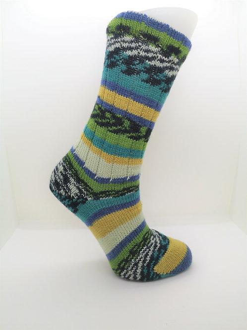 Green & Yellow Handcranked Socks