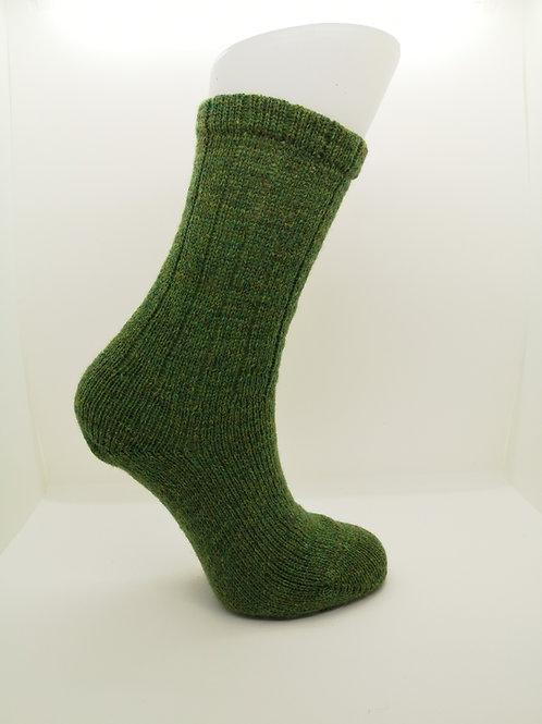 100% Pure Shetland Wool Socks - Lepruchaun Green