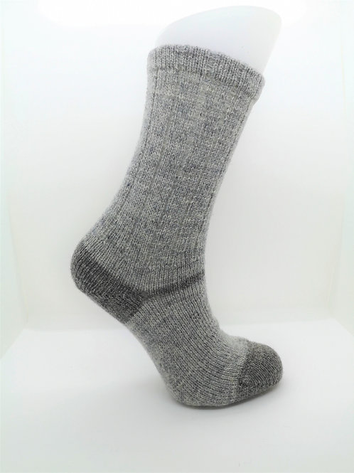 100% Pure Shetland Wool Socks - Granite Grey with Grey