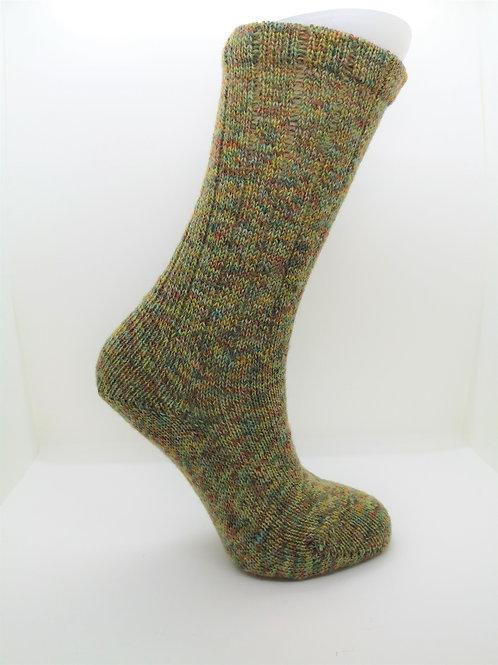 Twisted Green Handcranked Socks