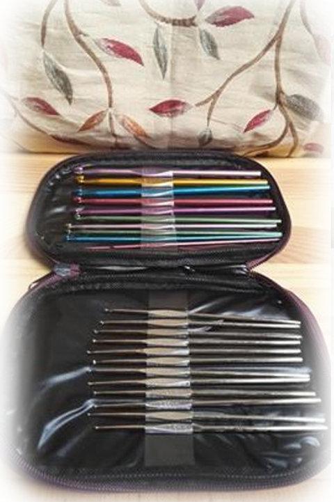 Crochet Hooks Set & Case