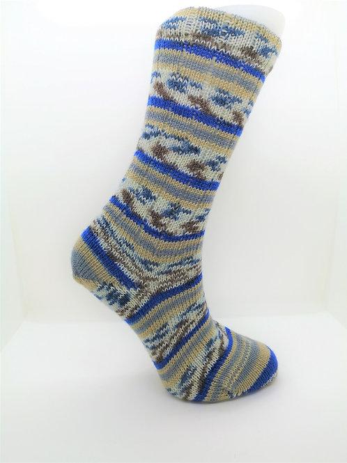 Camo Blue Handcranked Socks