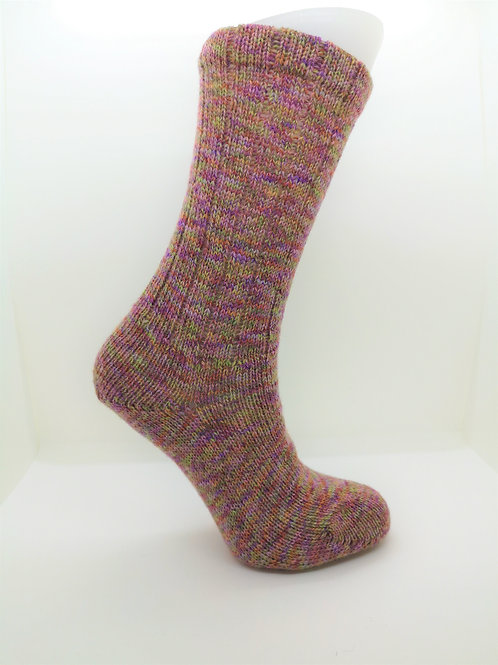 Twisted Pink Handcranked Socks