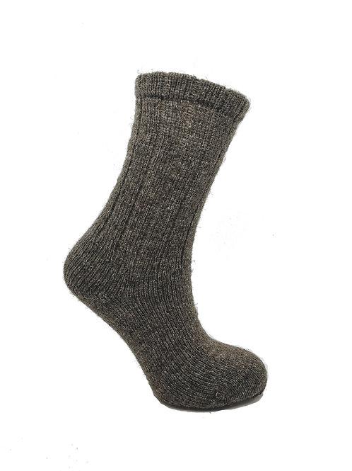 100% Pure Shetland Wool Socks - Mogit Brown