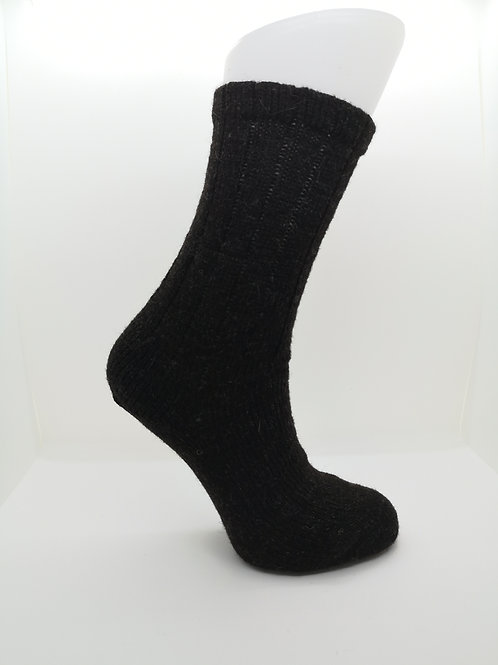 100% Pure Shetland Wool Socks - Natural Black