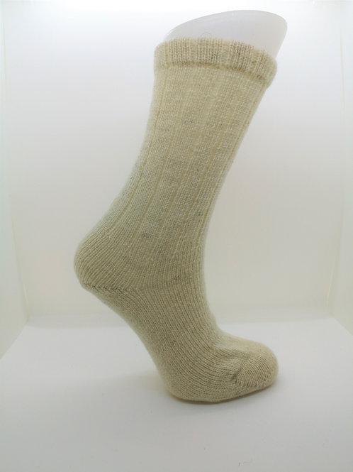 100% Pure Shetland Wool Socks - Natural White