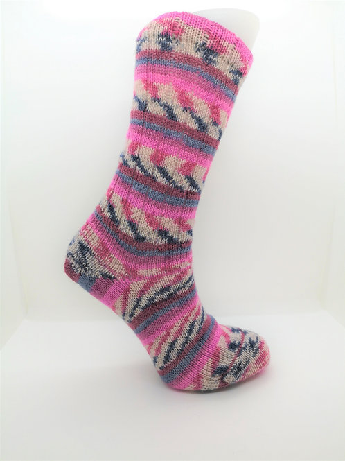 Camo Pink Handcranked Socks