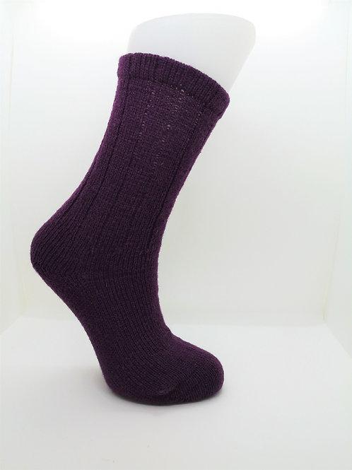 100% Pure Shetland Wool Socks - Clover Purple
