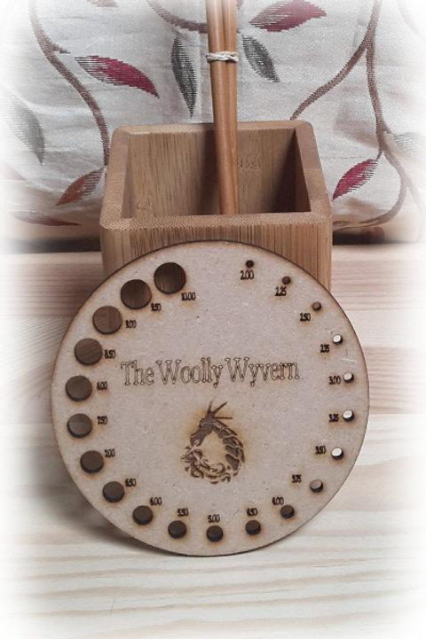 Wooden Knitting Needle Gauge