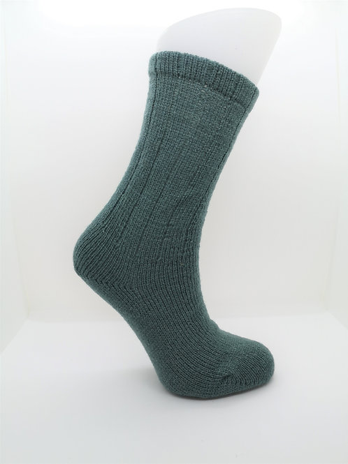 100% Pure Shetland Wool Socks - Sage Green