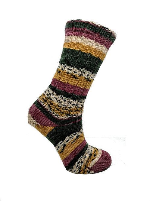 Pink & Yellow Handcranked Socks