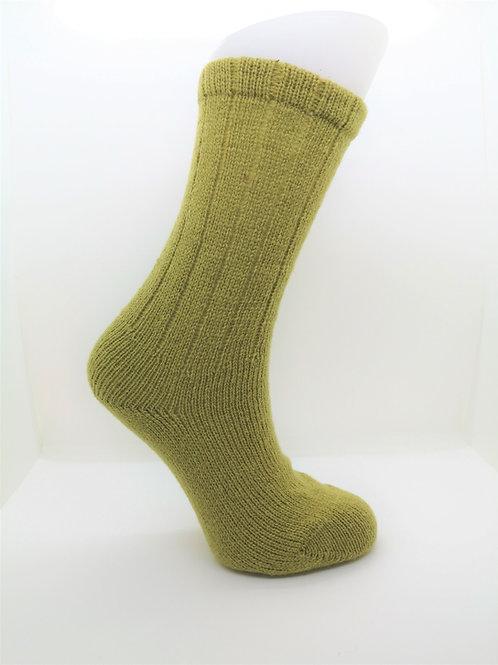 100% Pure Shetland Wool Socks - Chartruse Green