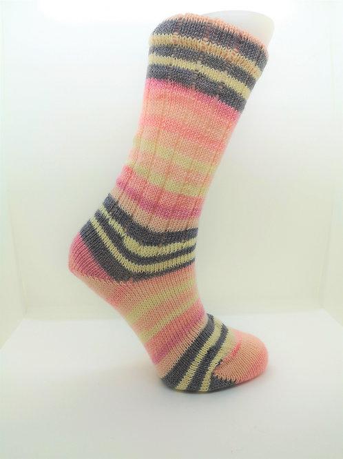 Striped Pink Handcranked Socks