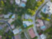 Veduta aerea di un quartiere