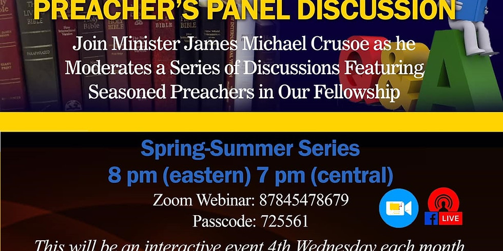 Preacher's Panel Discussion | August 2021