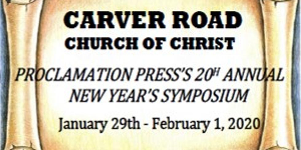 Proclamation Press 20th Annual New Year's Symposium