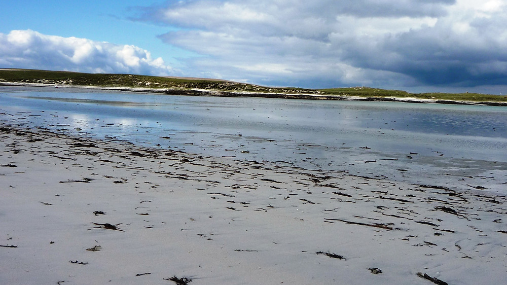 coastline along North Uist shores Outer Hebrides